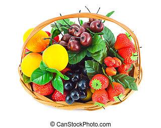 cesta, fruits