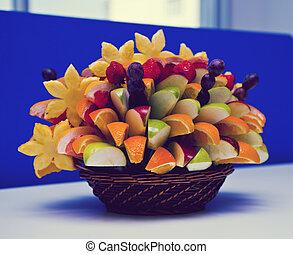 cesta, fruta