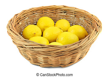 cesta, limones