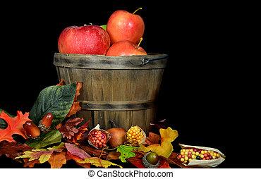 cesta, maçã