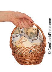 cesta, moeda corrente, dual