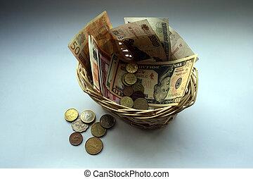 cesta, monetário