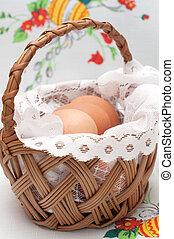 cesta, ovos, páscoa