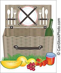 cesta, picnic