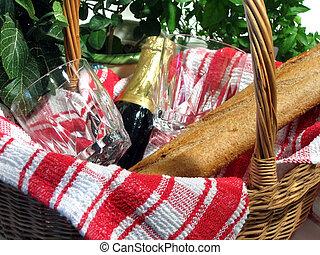 cesta, piquenique