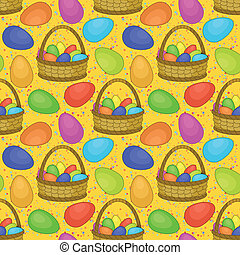cesta,  seamless, Páscoa, ovos
