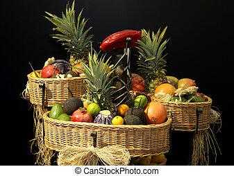 cesti, frutte