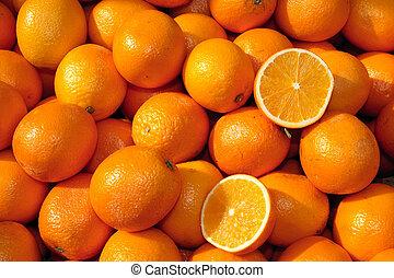 cesto, arance