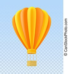 cesto, arancia, giallo, ballon, aria