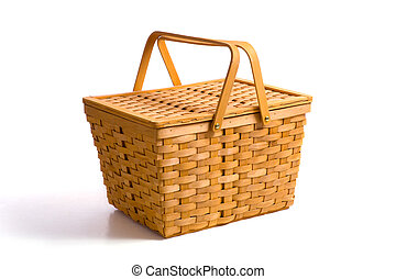 cesto, bianco, picnic