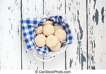 cesto, biscotti