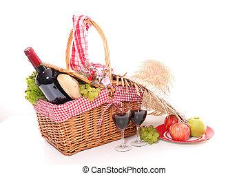 cesto, estate, picnic