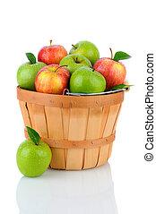 cesto, fabbro, gala, mele, nonna
