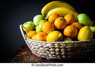cesto, frutta
