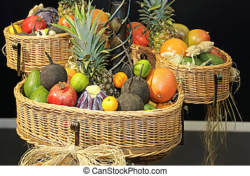 cesto, frutte