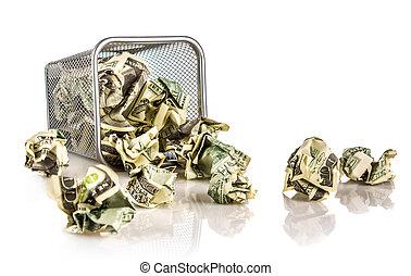 cesto, soldi