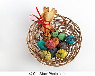 cesto, uova, biscotti
