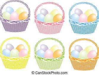 Cesto, uova, pasqua