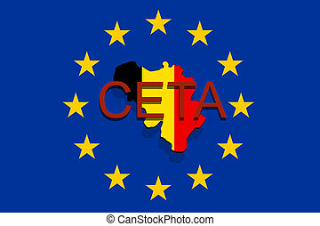 Ceta comprehensive economic and trade agreement on euro clipart ceta comprehensive economic and trade agreement on euro union background belgium map platinumwayz