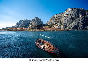 cetina, fluß boot