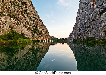 cetina, omis, schlucht, fluß, kroatien