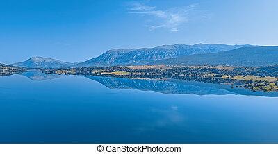 cetina, reservoir, see, kroatien, peruca, fluß