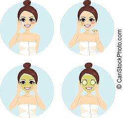 cetriolo, bellezza, trattamento facciale