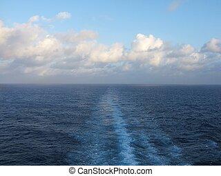 ceuise ship wake