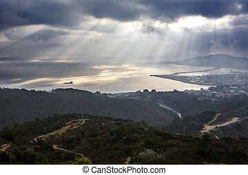 Ceuta from the Viewpoint of Isabel II under the mist - View...