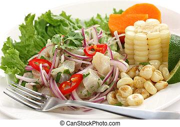 ceviche, peruvian cuisine - ceviche, seafood dish, peruvian...