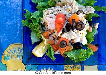Ceviche plate - Classic ceviche plate in Peruvian restaurant