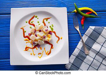 Ceviche recipe modern gastronomy style molecular cuisine