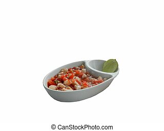 Ceviche - This is a photo of El Salvadorian ceviche...