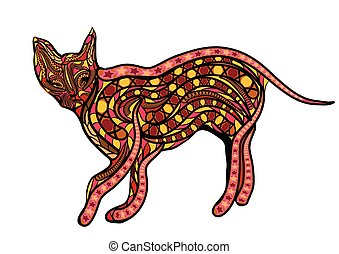ceylon, étnico, gato