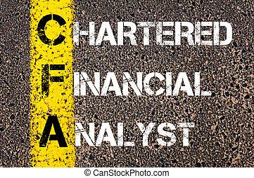 cfa, financiero, alquilado, analista, siglas, empresa / ...