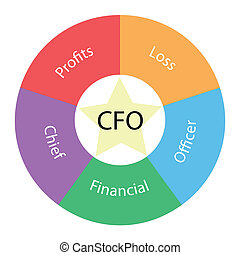 CFO circular concept with colors and star - A CFO circular...