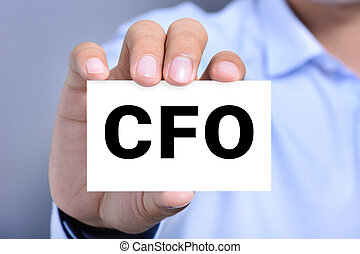 CFO letters (or Chief Financial Officer) on the card shown...