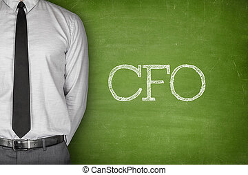 CFO text on blackboard - Accounting concept on blackboard...