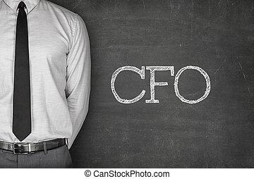 CFO text on blackboard - Accounting concept on blackboard...