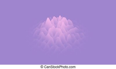 CG animated waving layers background. Blue gradient seamless...
