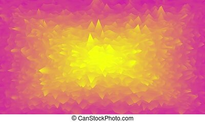 CG animated waving ripples background. Red and yellow gradient seamless looped motion design. 3D rendering.