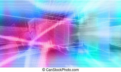 Abstract shapes Retro VJ Loop - CG Background Abstract...