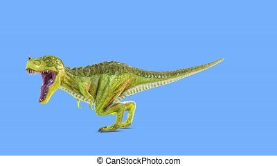 cg, dinosaure, rendre, 3d