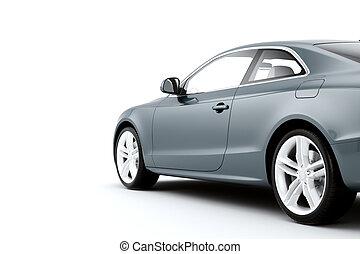 CG render of generic luxury coupe car