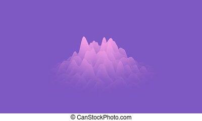 cg, rendering., bleu, 3d, gradient, mouvement, animé, ...