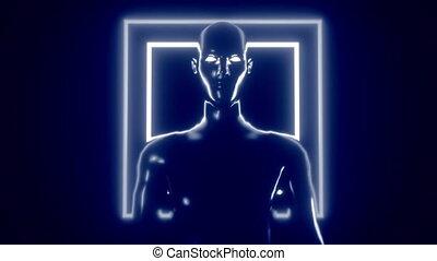 cgi, animation., intelligence., artificiel, stylisé, 4k, 3d