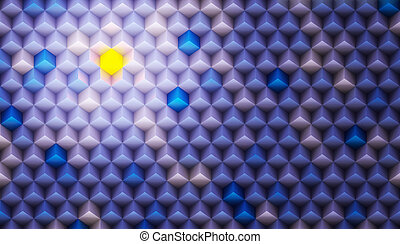 Color Background Made of Cubes - CGI Color Background Made...