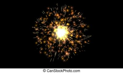 cgi, feud'artifice, -, boucle