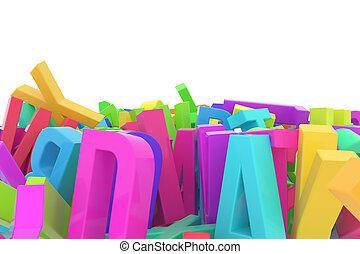cgi, graphique, alphabet, &, communication, résumé, papier peint, titre, business., typographie, créativité, lettre, abc., design.
