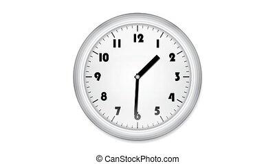 cgi, ożywiony, biurowy zegar